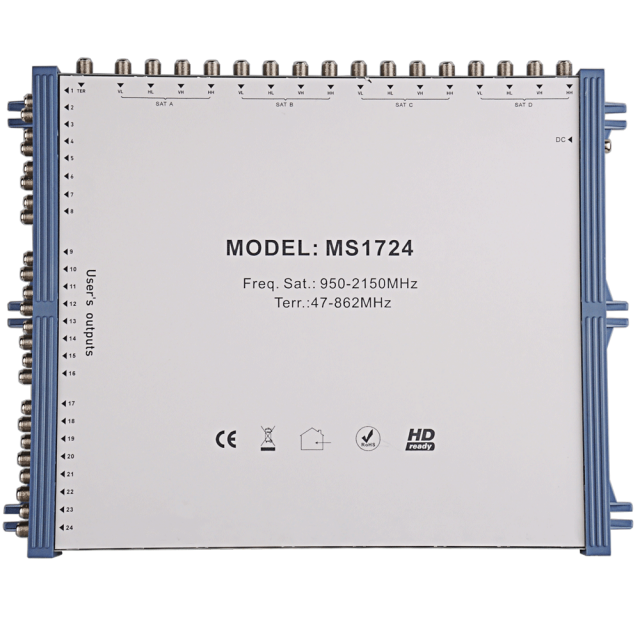 Stand Alone Satellite Multiswitch MS1724