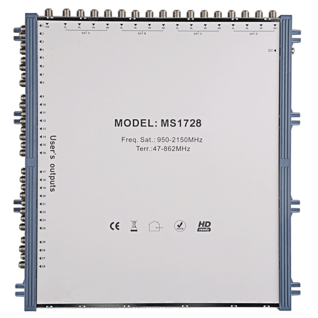 Stand Alone Satellite Multiswitch MS1728