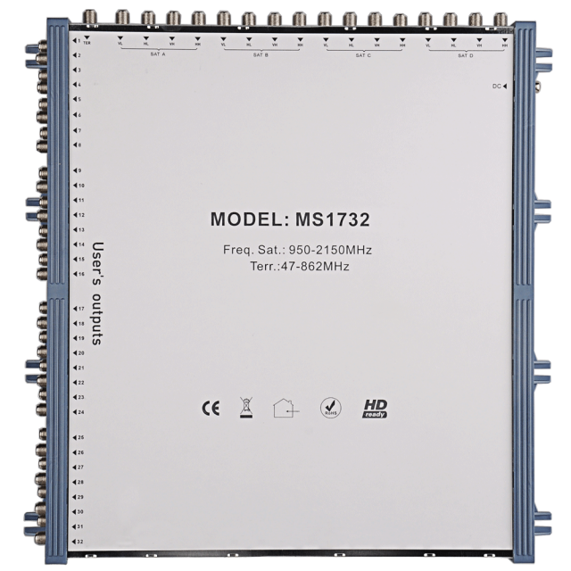 Stand Alone Satellite Multiswitch MS1732
