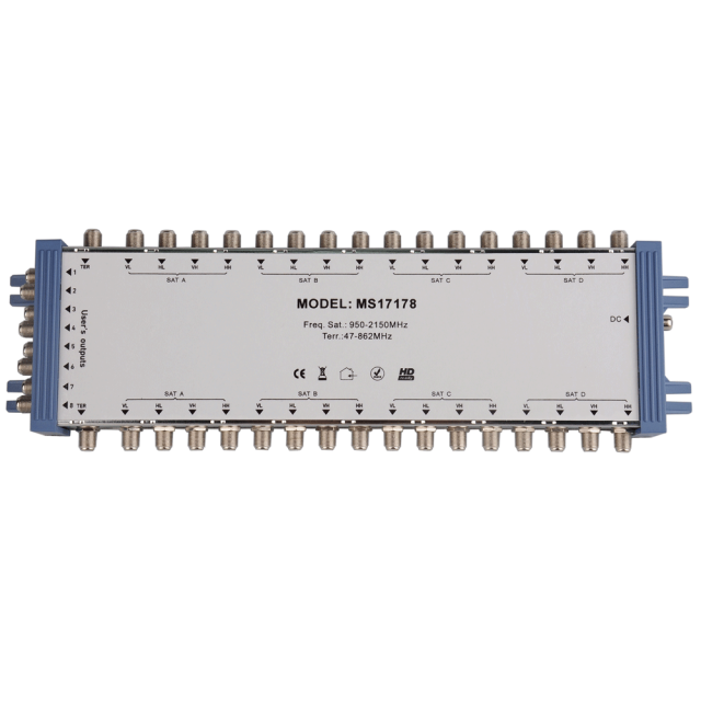 Cascade Satellite Multiswitch MS17178