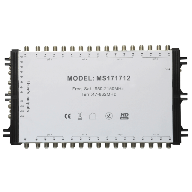 Cascade Satellite Multiswitch MS171712