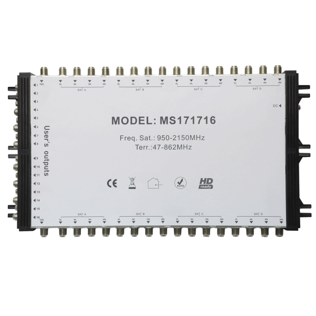 Cascade Satellite Multiswitch MS171716